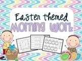 Easter Themed Morning Work {ELA, Math}