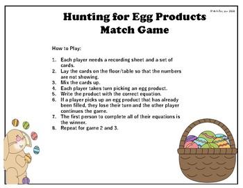 Easter Themed Multiplication Fluency Practice