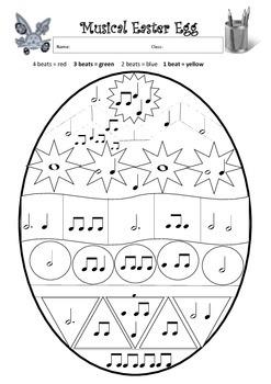 Easter Themed Music Worksheets