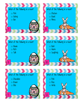 Easter Activity Easter Themed Nouns Center Game