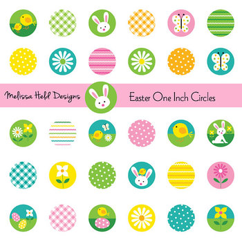 Clipart: Easter One Inch Circles Clip Art