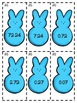 Easter Peeps Ordering Decimals Game or Math Center