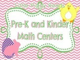 Easter Themed PK/K Math Centers
