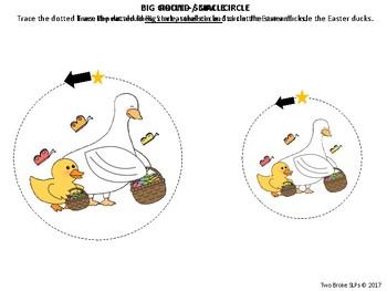 Easter Themed Pre-Writing (Callirobics) Activities