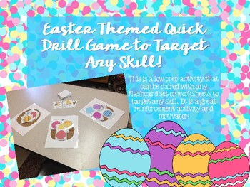 Easter Themed Quick Drill Game!