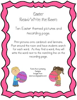 Easter Themed Read and Write the Room
