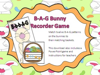 Easter-Themed Recorder Matching Game