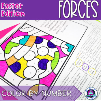 Easter Themed Science Color-by-Number: Forces