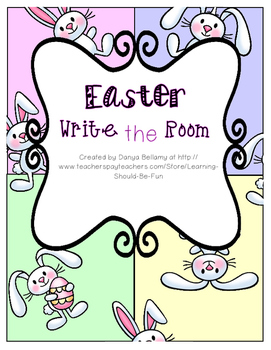 Easter Themed: Sight Word Write the Room