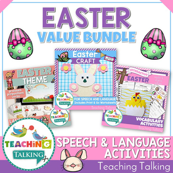 Easter Speech Therapy Activities Value Bundle