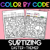 Easter Subitizing | No Prep Color By Number Activities