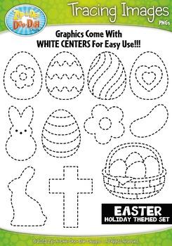 Easter Tracing Image Clipart {Zip-A-Dee-Doo-Dah Designs}