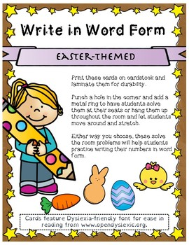 Easter Themed Word Form Scoot