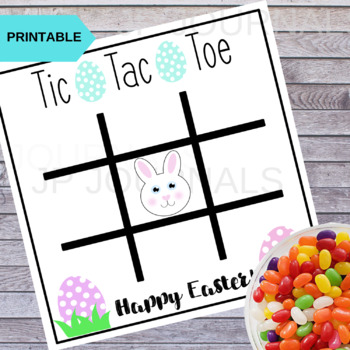 Easter Tic Tac Toe Game Activity Card Printable