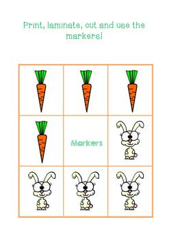 Easter Tic-Tac-Toe Game Board
