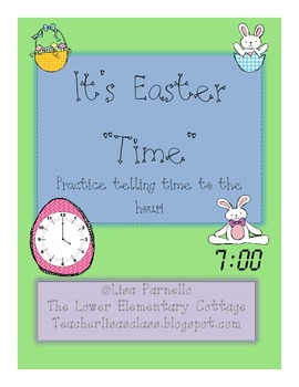 """Easter """"Time"""" {FREEBIE} Time Matching to the Hour"""