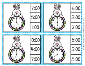 Easter Time to the Hour Clip Cards