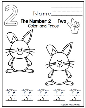 """Easter Tracing Numbers 1-10 """"No Prep"""""""