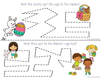 Easter Tracing - Prewriting & Writing Center Activities