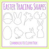 Easter Tracing Shapes for Fine Motor Control or to Cut Out Commercial Clip Art