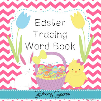 Easter Tracing Word Book