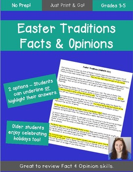 Easter Traditions Literacy Lesson