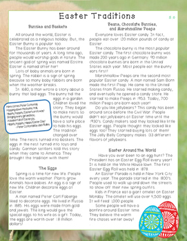 Easter Traditions Nonfiction Close Reading Passage and Questions - Level 5.0