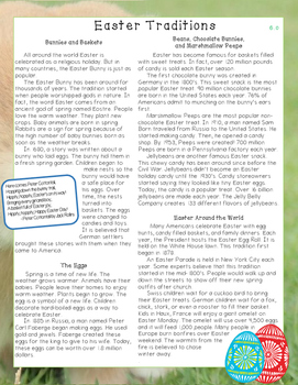 Easter Traditions Nonfiction Close Reading Passage and Questions - Level 6.0