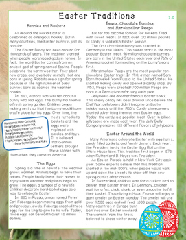 Easter Traditions Nonfiction Close Reading Passage - Level 7.0