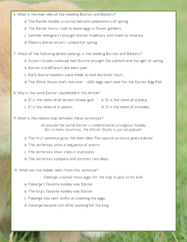 Easter Traditions Nonfiction Close Reading Passage and Questions - Level 7.0