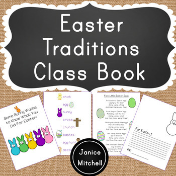 Easter Traditions in my Family Classbook for Grades K-3