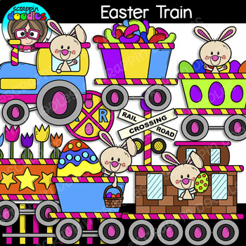 Easter Train Clipart {Scrappin Doodles Clipart}