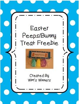 Easter Treat Bag Tag Freebie