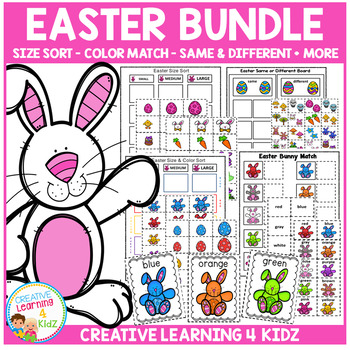 Easter Bundle Sorting Size Color Same or Different