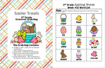 Easter Treats 2nd Grade Grammar Grab Bag #30