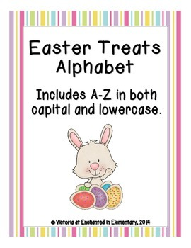 Easter Treats Alphabet! Letter and Sound Recognition Game
