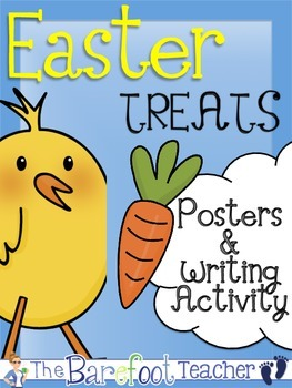 Easter Treats Posters (9 Total) & Writing Activity