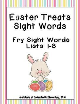 Easter Treats Sight Words! Bundle of Fry Lists 1-3