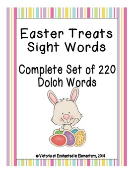 Easter Treats Sight Words! Complete Set of all 5 Dolch Lists