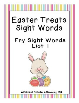 Easter Treats Sight Words! Fry List 1