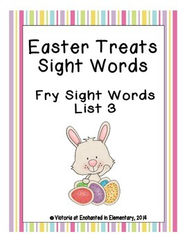 Easter Treats Sight Words! Fry List 3