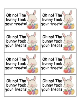 Easter Treats Sight Words! Pre-Primer Dolch List Edition