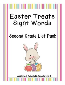 Easter Treats Sight Words! Second Grade Dolch List Edition