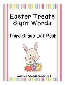 Easter Treats Sight Words! Third Grade Dolch List Edition
