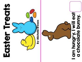 Easter Treats an Interactive Emergent Reader PreK, K, 1, SLP, Special Ed, Autism