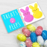 Easter Treats for My Peeps Treat Candy Cookie Bag Toppers