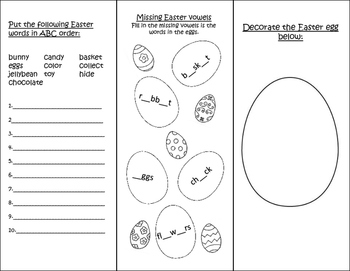 Easter Trifold