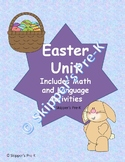 Easter Unit- Matching Letters, Counting, Recognizing Shapes