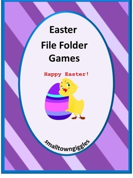 Easter File Folder Games Math-Literacy File Folder Games Special Education