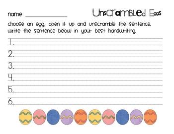 Easter - Unscrambled Eggs